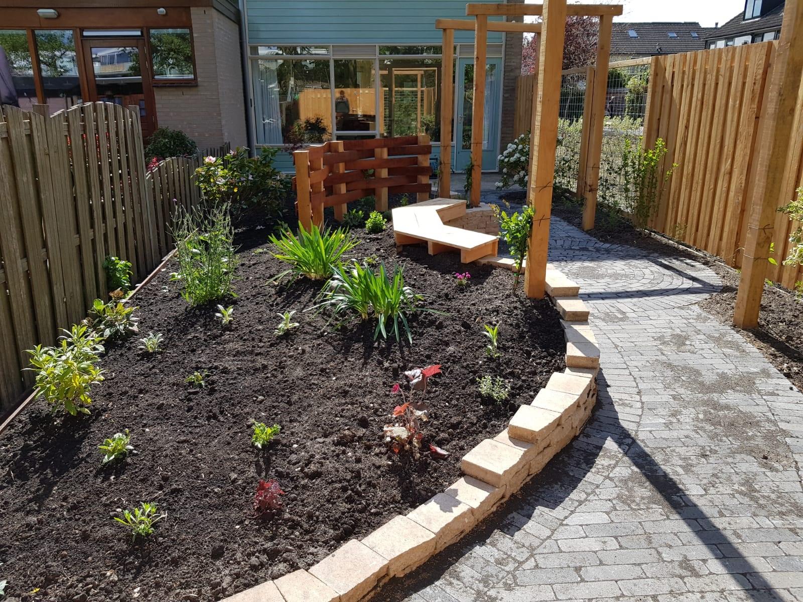 Aanleg tuin Capelle met beplanting