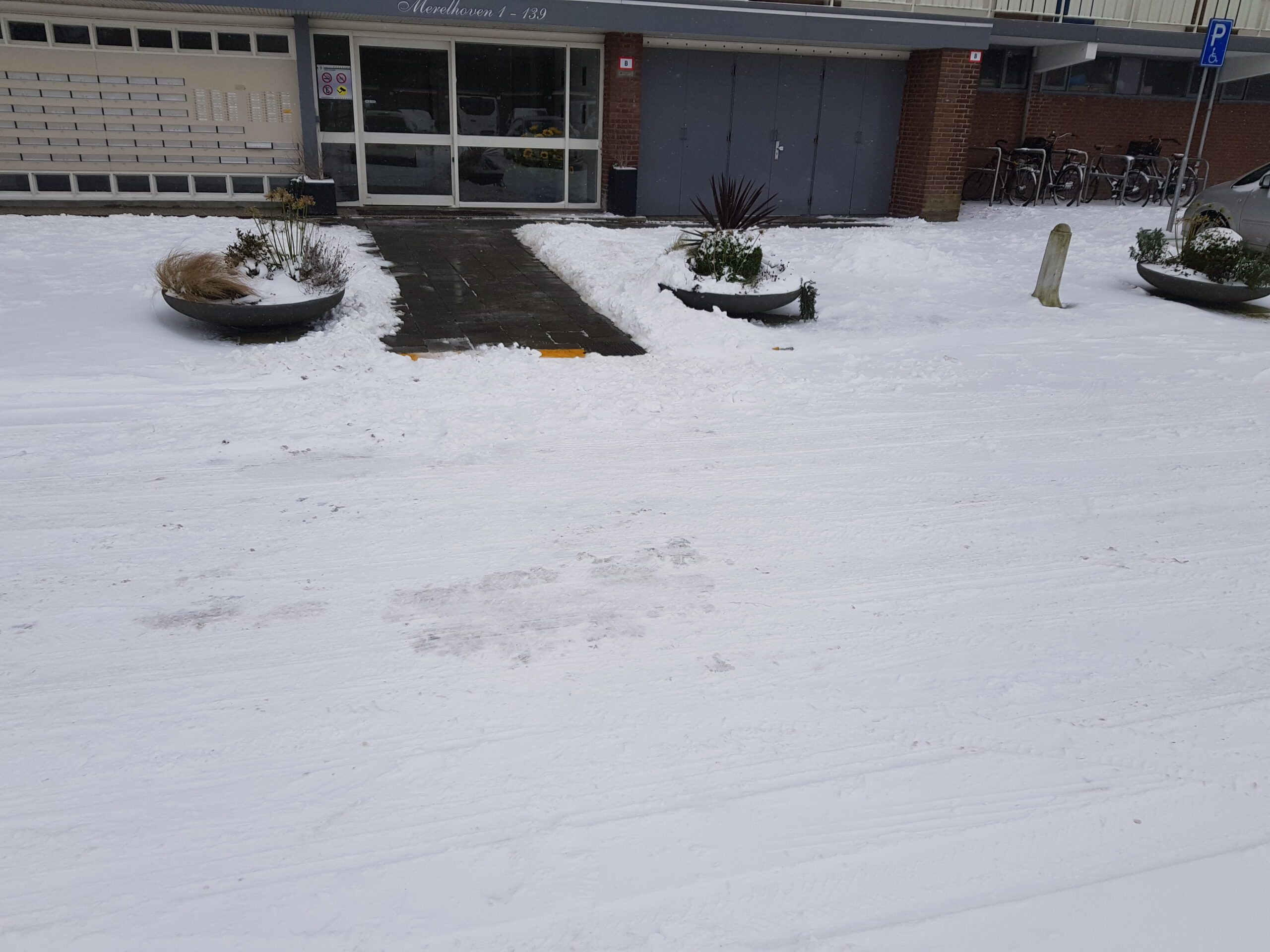Sneeuw verwijderen VvE Rotterdam